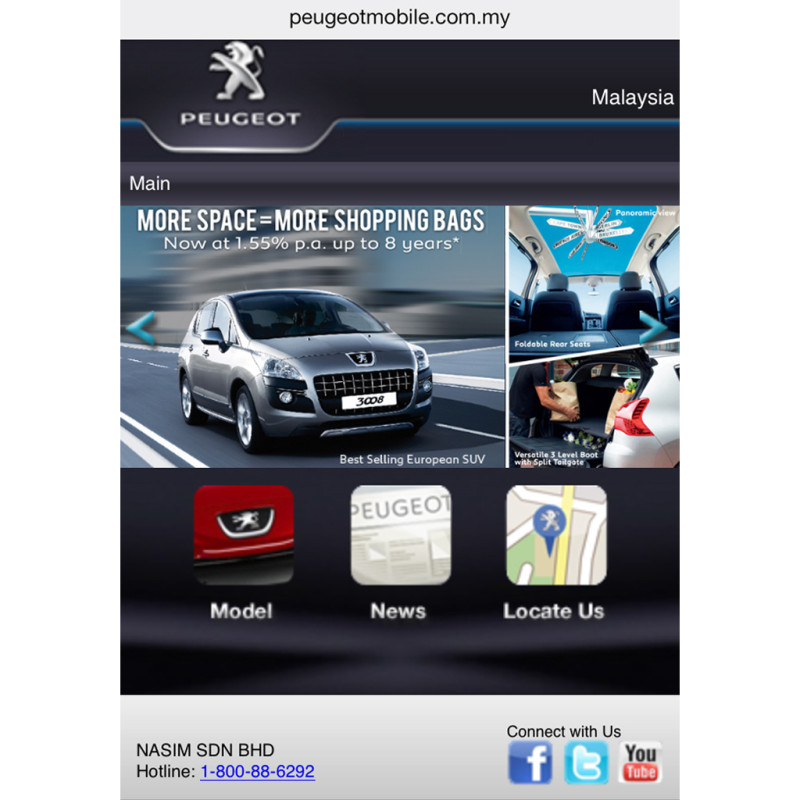 Peugeot Mobile Site